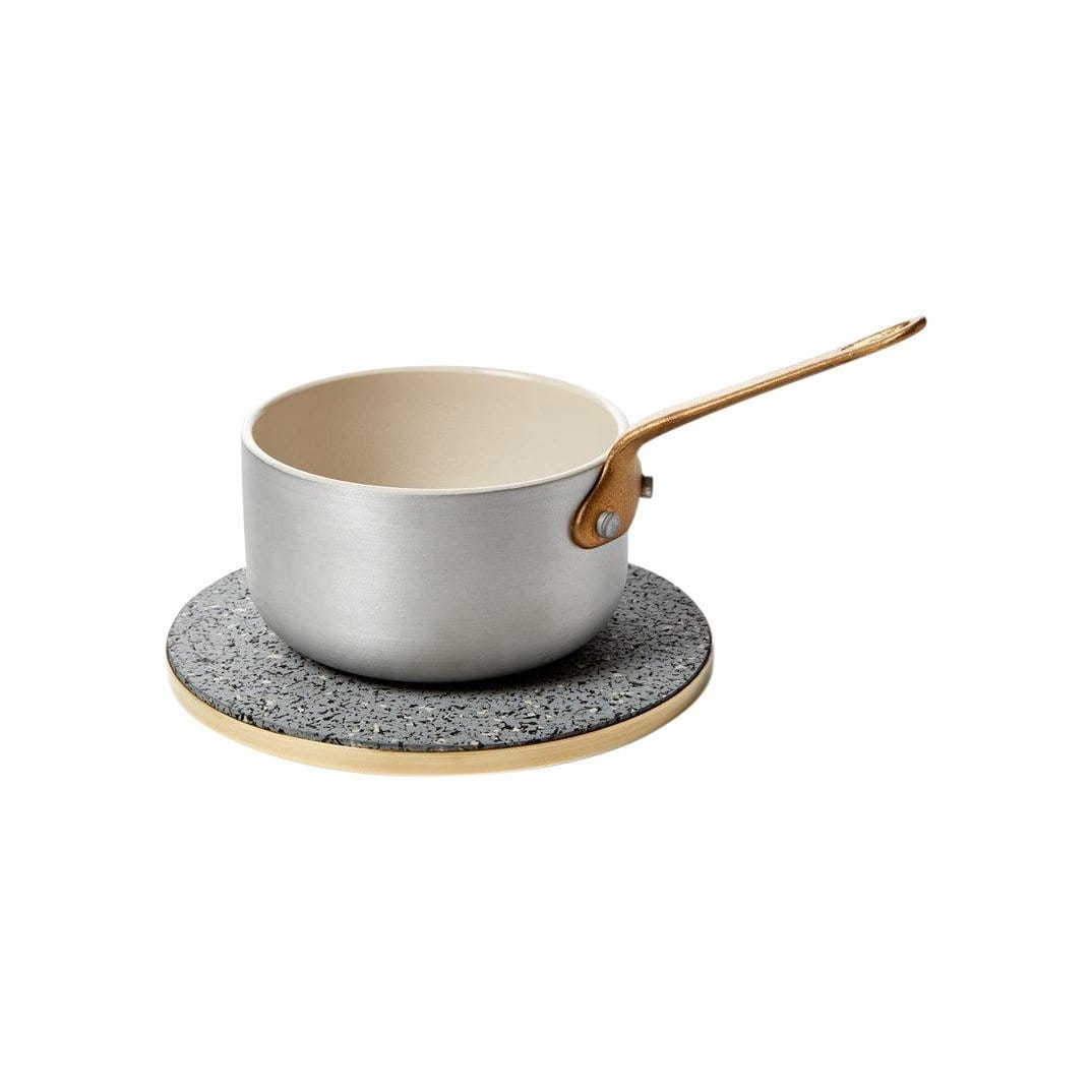 Slash Objects Serveware Brass + Rubber Gris Trivet