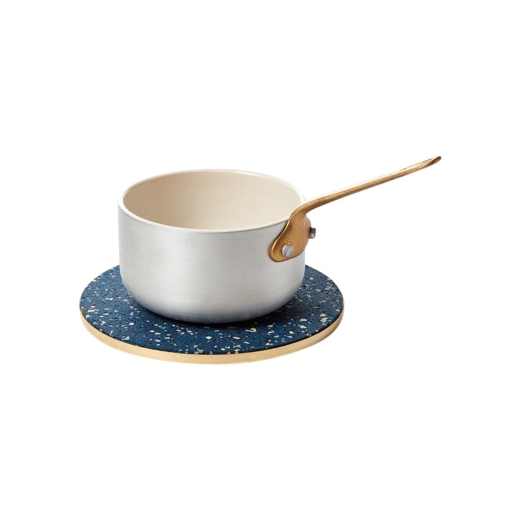 Slash Objects Serveware Brass + Rubber Royal Trivet
