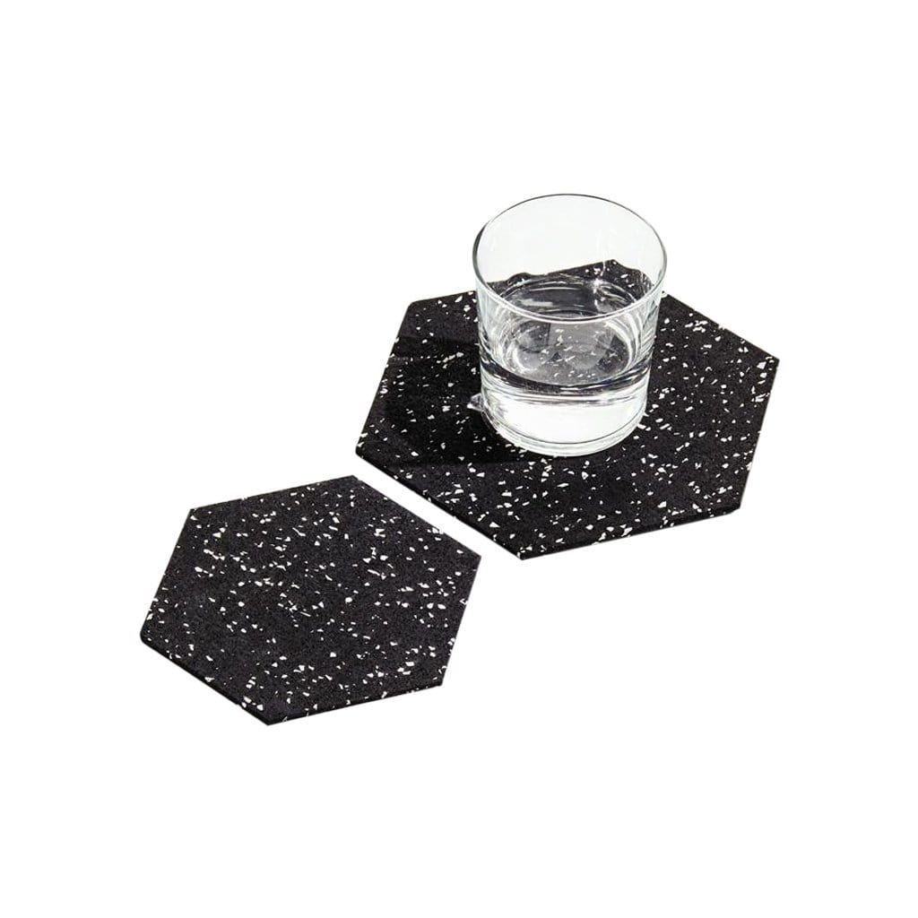 Slash Objects Serveware Hex Duo in Speckled Black