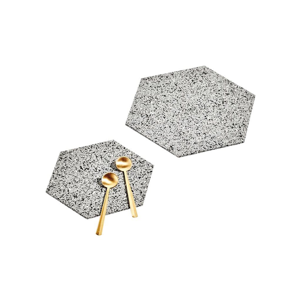 Slash Objects Serveware Hex Gris Trivet Duo