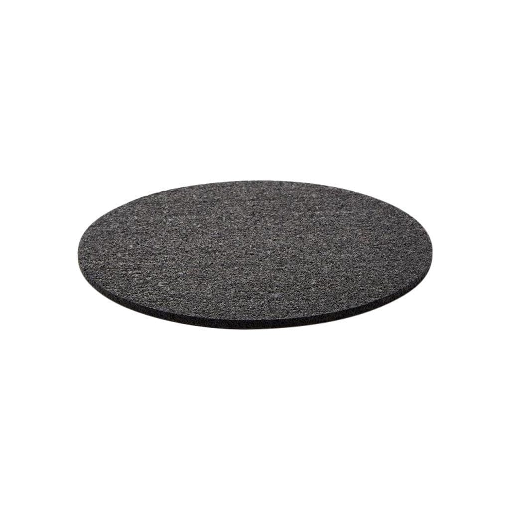 Slash Objects Serveware Round Rubber Black Trivet