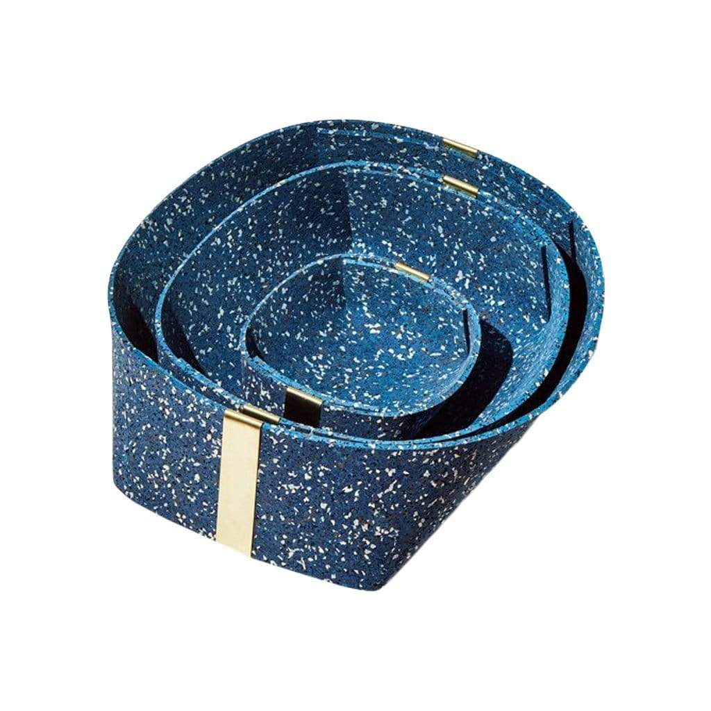 Rubber and Brass Baskets in Royal