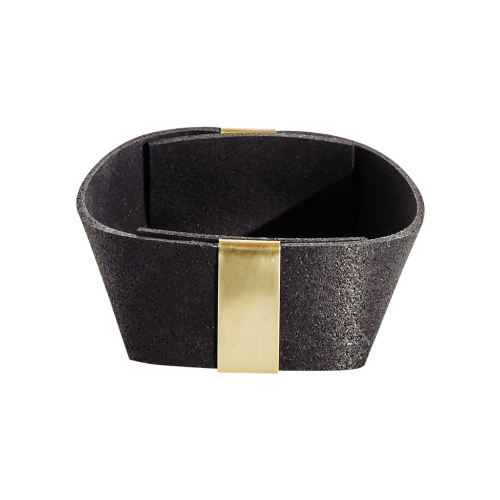 Small Rubber and Brass Basket