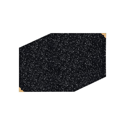 Slash Objects Table Linens Speckled Black Rubber Placemat