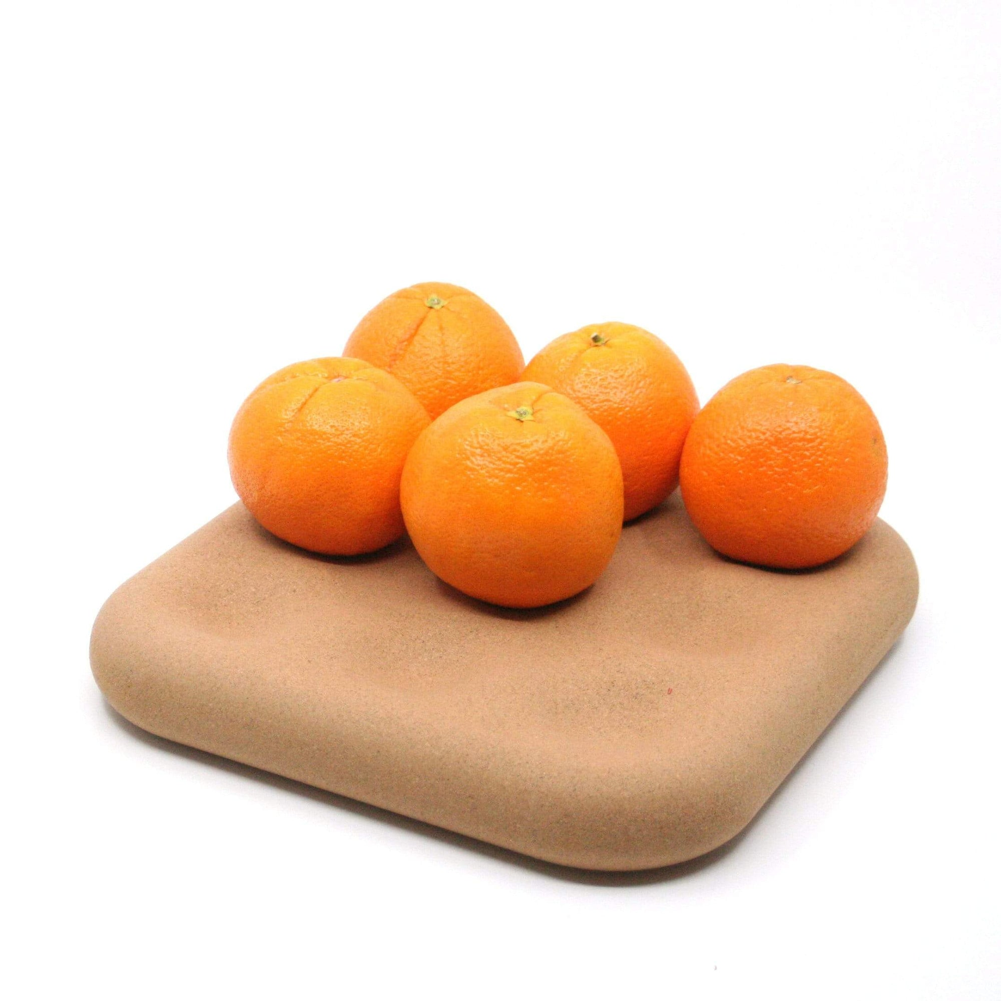 Space Ctrl Design Kitchen Organization Dimple Tray - Fruit Tray in Natural Cork Finish