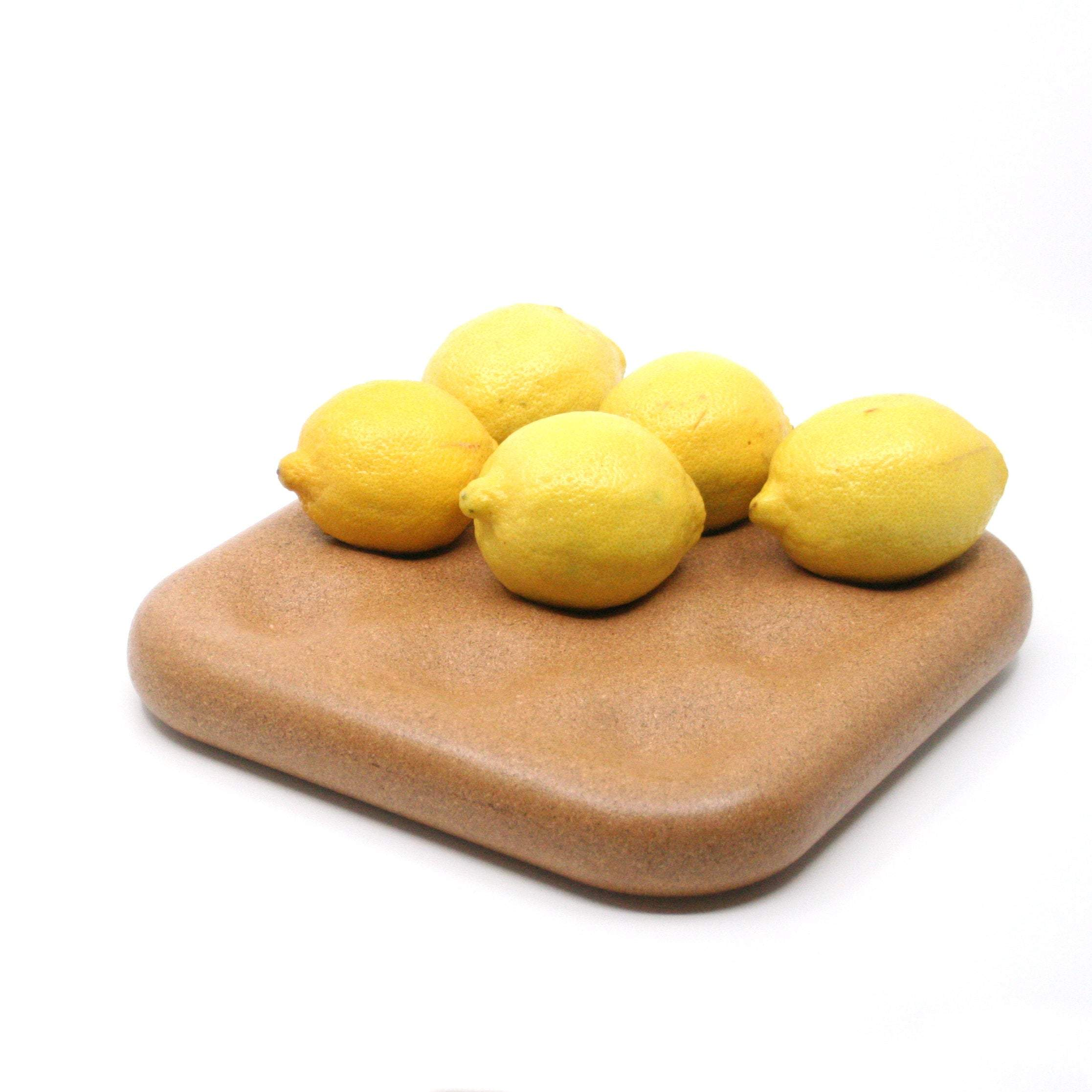 Sealed Natural Cork Dimple Tray Fruit Bowl