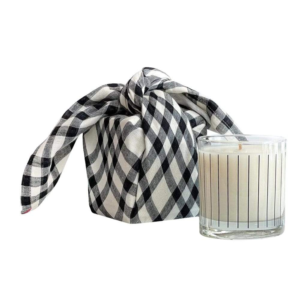 Studio Stockhome Candles + Diffusers Candle with Tea Towel Furoshiki Wrap