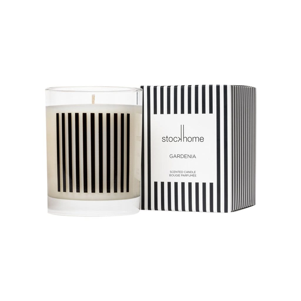 Studio Stockhome Candles + Diffusers Gardenia Breton Stripe Candle