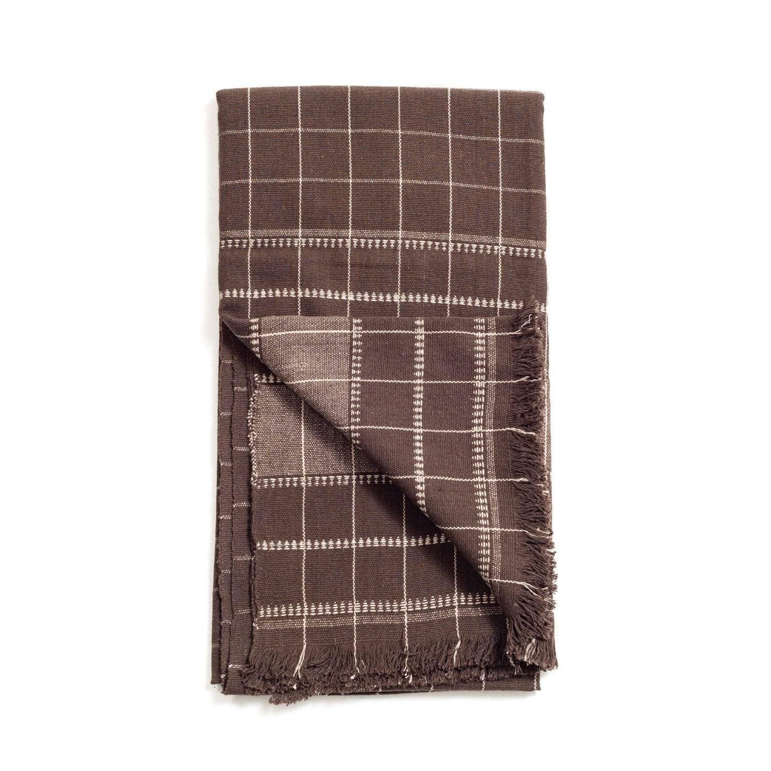 Studio Variously Cushions + Throws Treacle Brown Throw