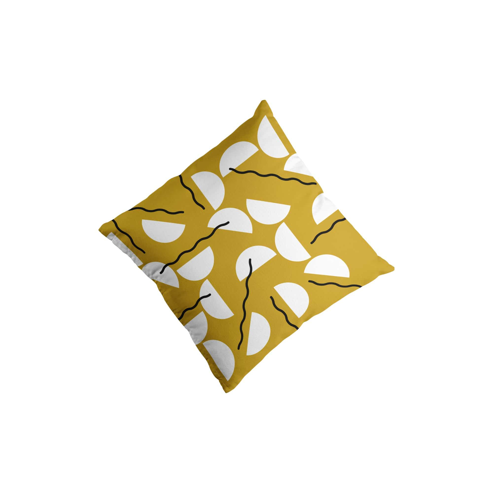 Swell Made Co. Cushions + Throws Gold Waves Throw Pillow Cover