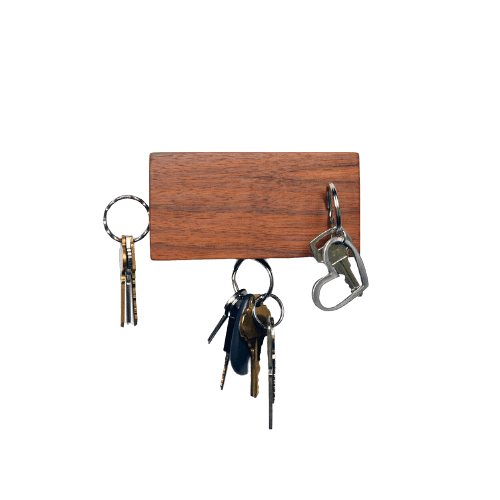 Tat Design Storage + Organization Walnut Veneer BLOK Key Holder