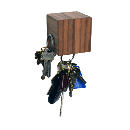 Tat Design Walnut Veneer KUBE Key Holder