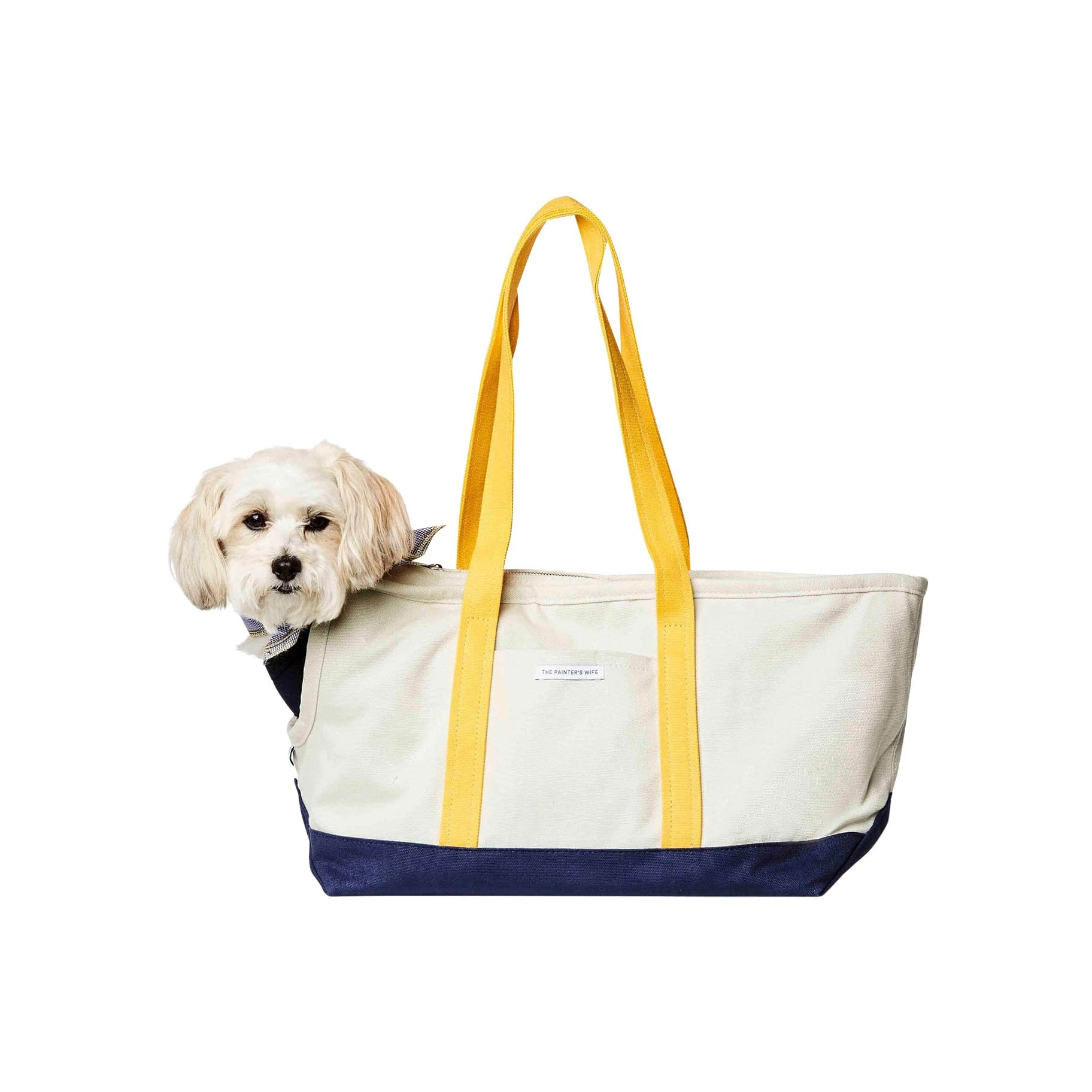 The Painter's Wife Pet Carriers + Bags Navy + Yellow Dog Carrier
