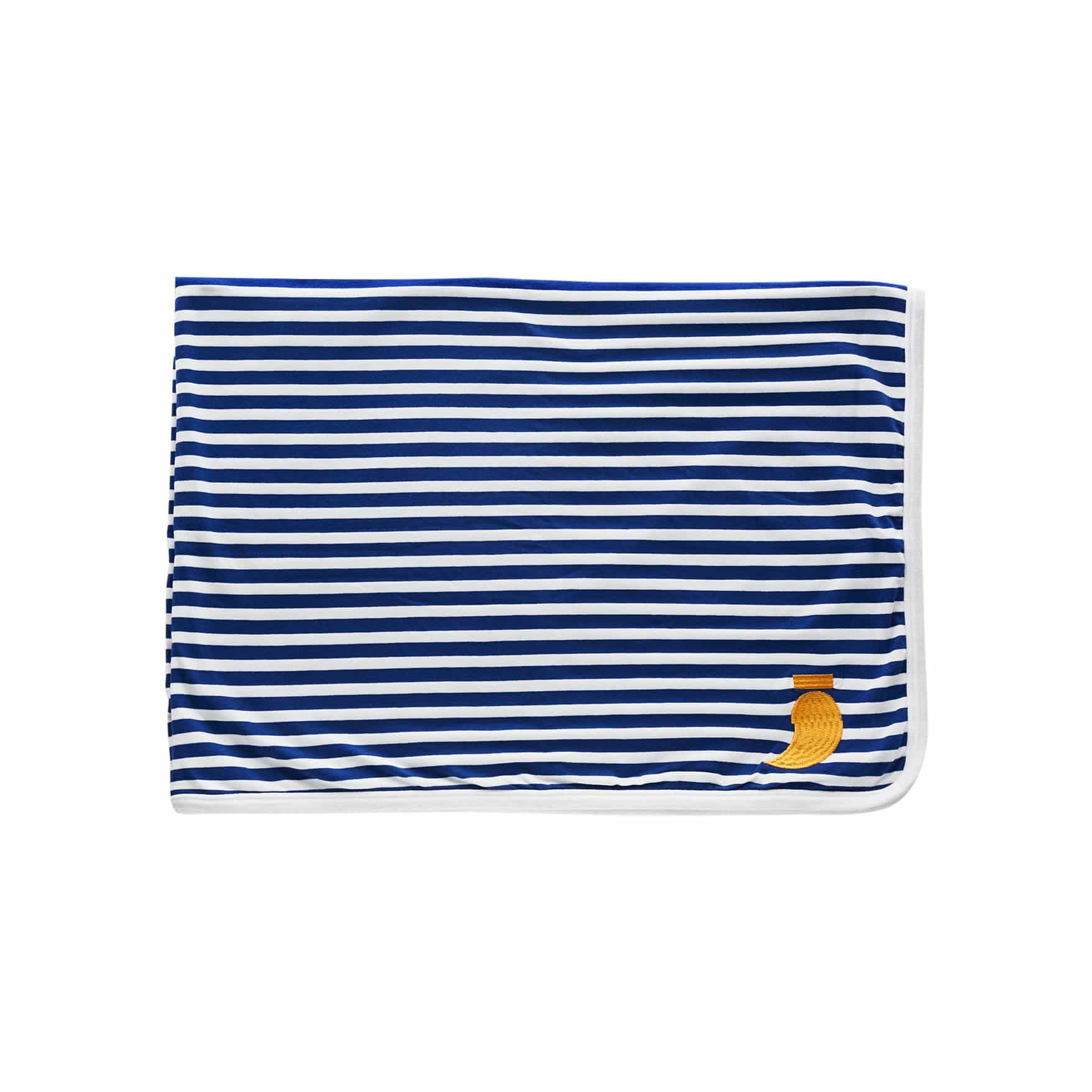 Double Sided Blue Striped Blanket