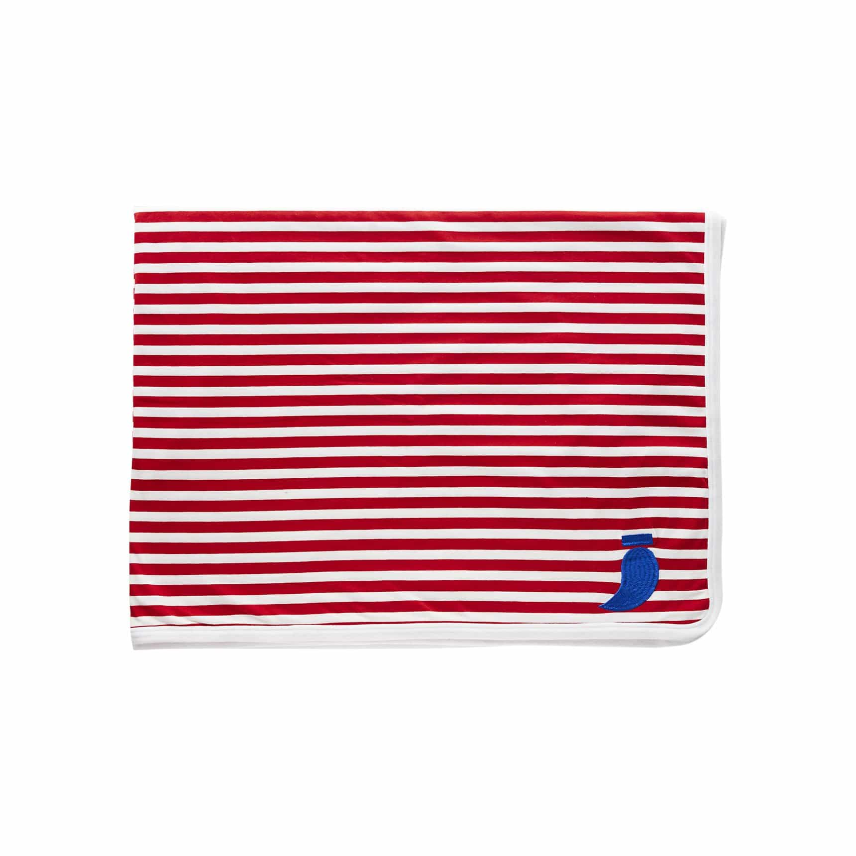 Double Sided Red Striped Blanket