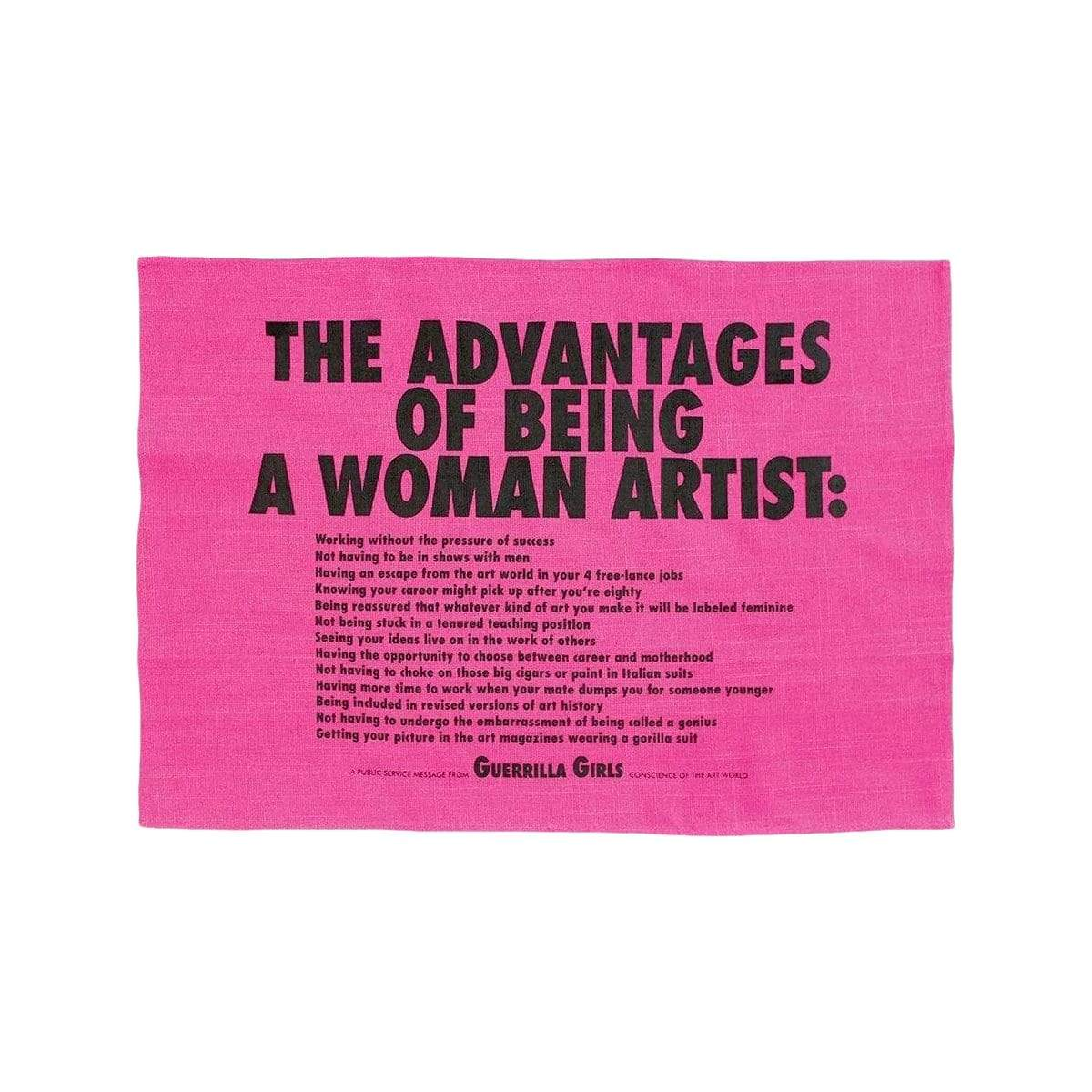 Third Drawer Down Table Linens Advantages Of Being A Woman Tea Towel x Guerrilla Girls