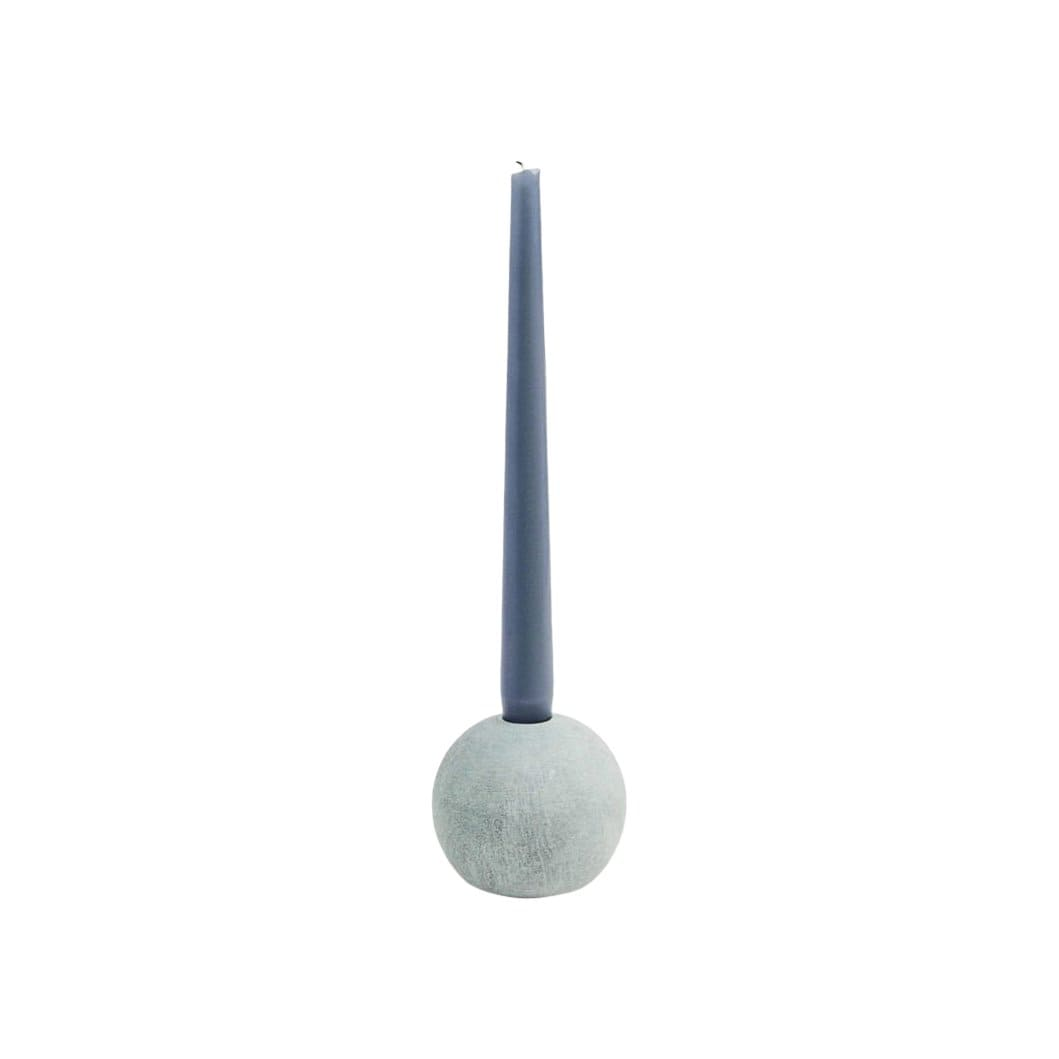 Ball of Stone Candleholder