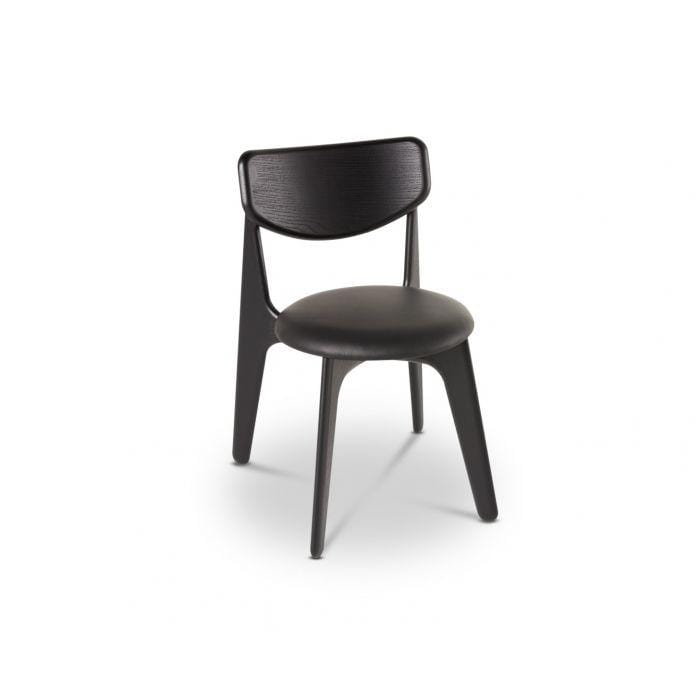 Slab D Chair Black Upholstered