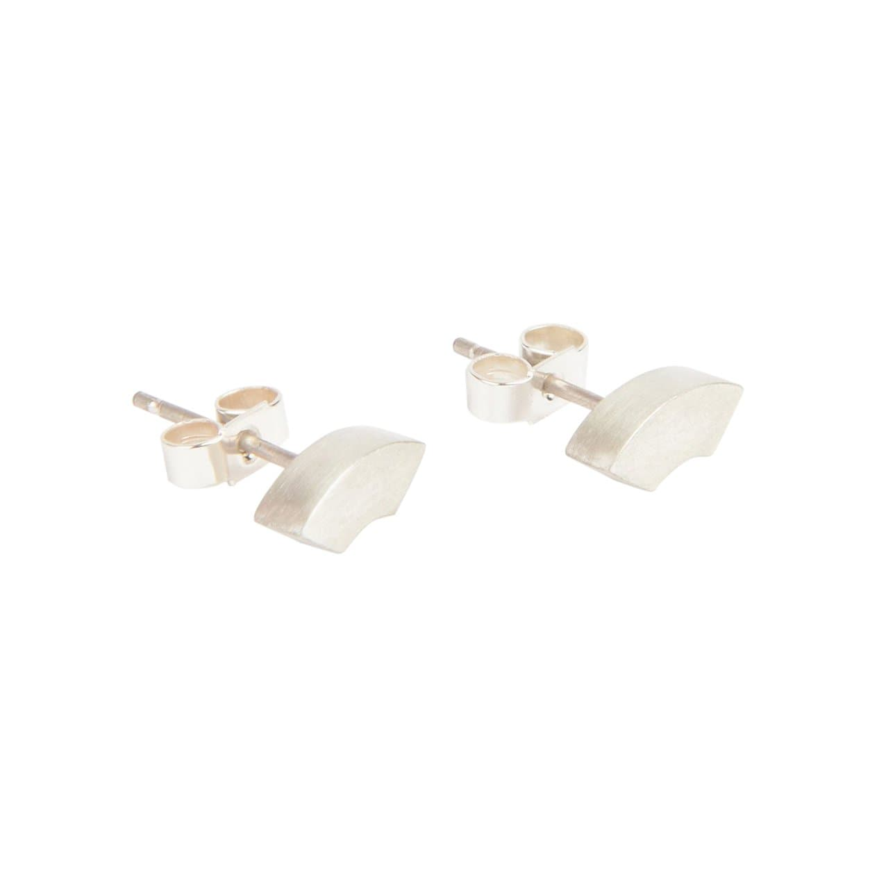 Tom Pigeon Earrings Béton Silver Arc Earrings