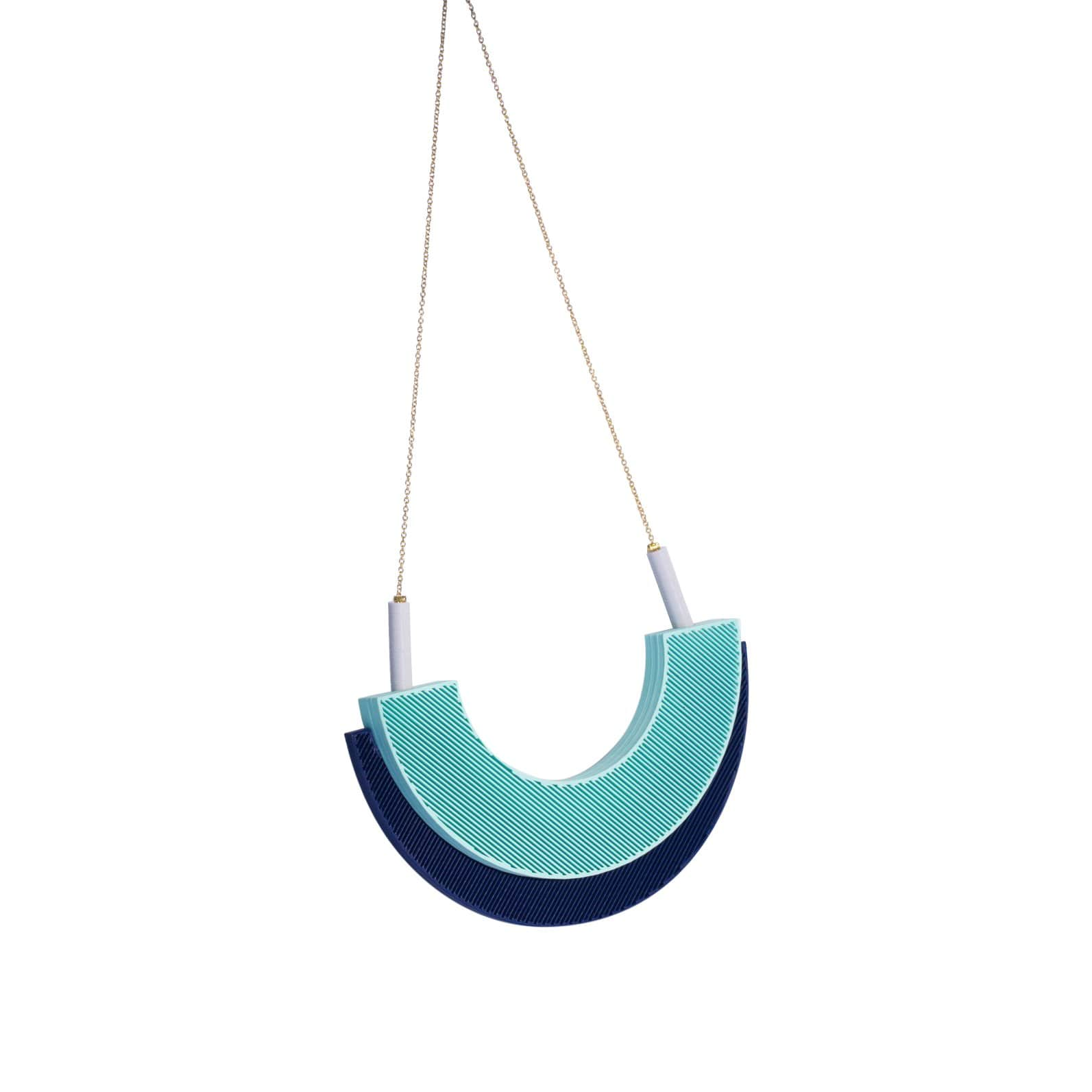 TOPODOM Necklaces Mint-Blue Moire Isla