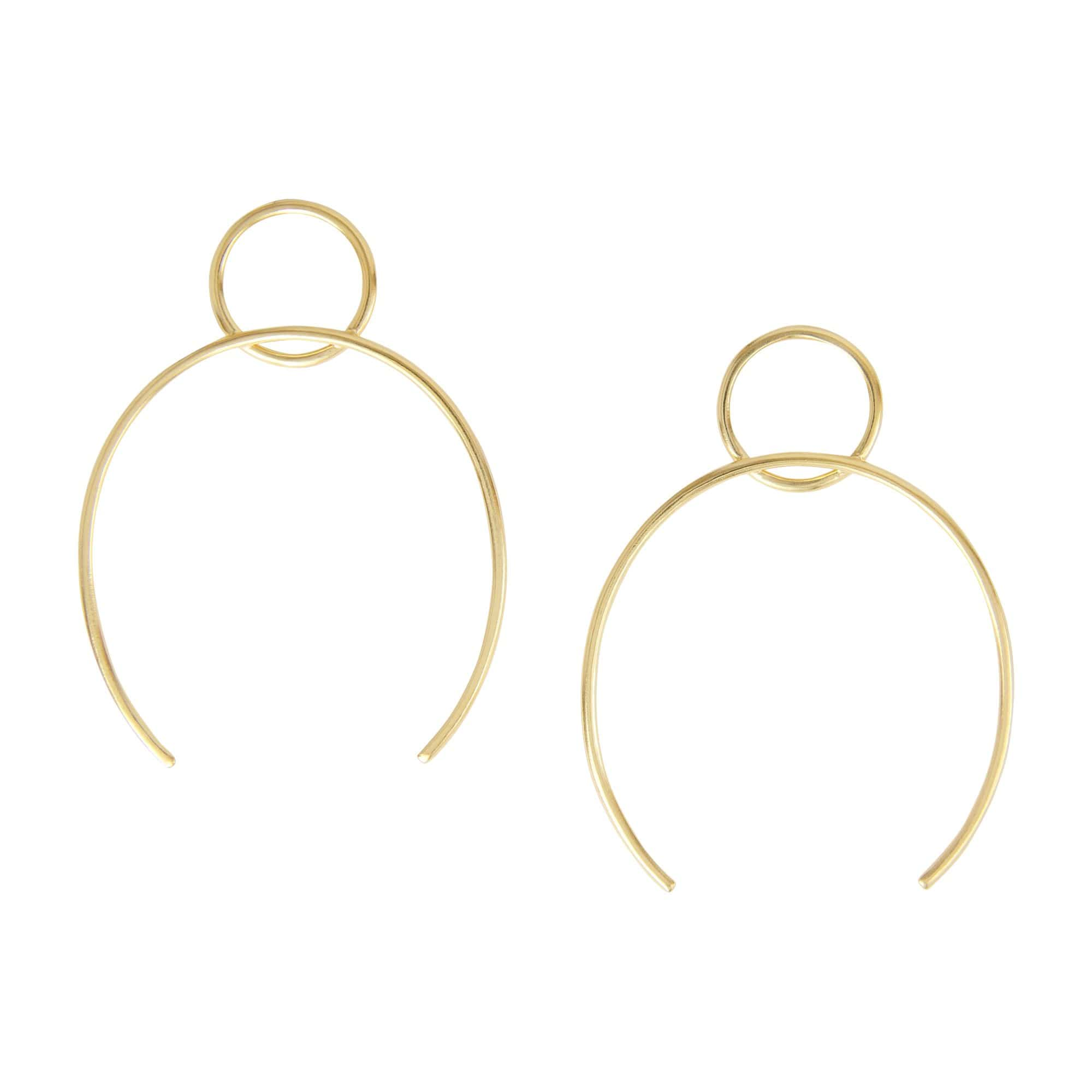 tothemetal Earrings Circle + Open Oval Gold Hoops