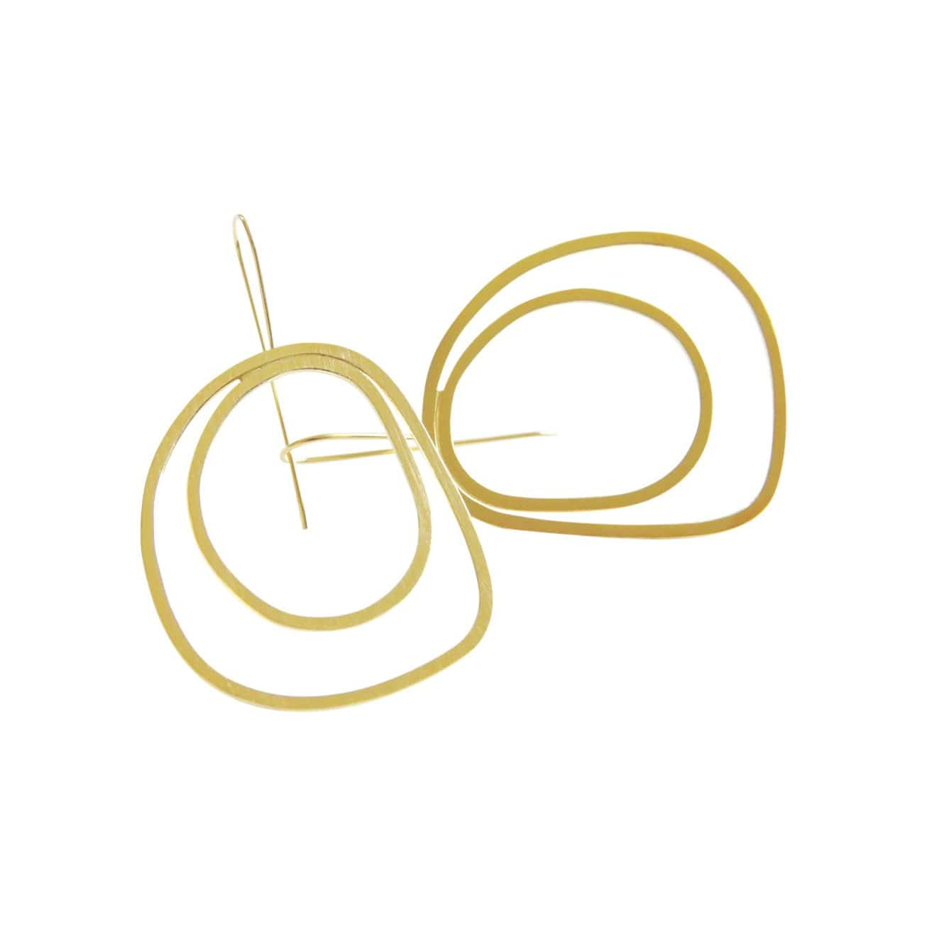 tothemetal Earrings Double Hoop Gold Earrings