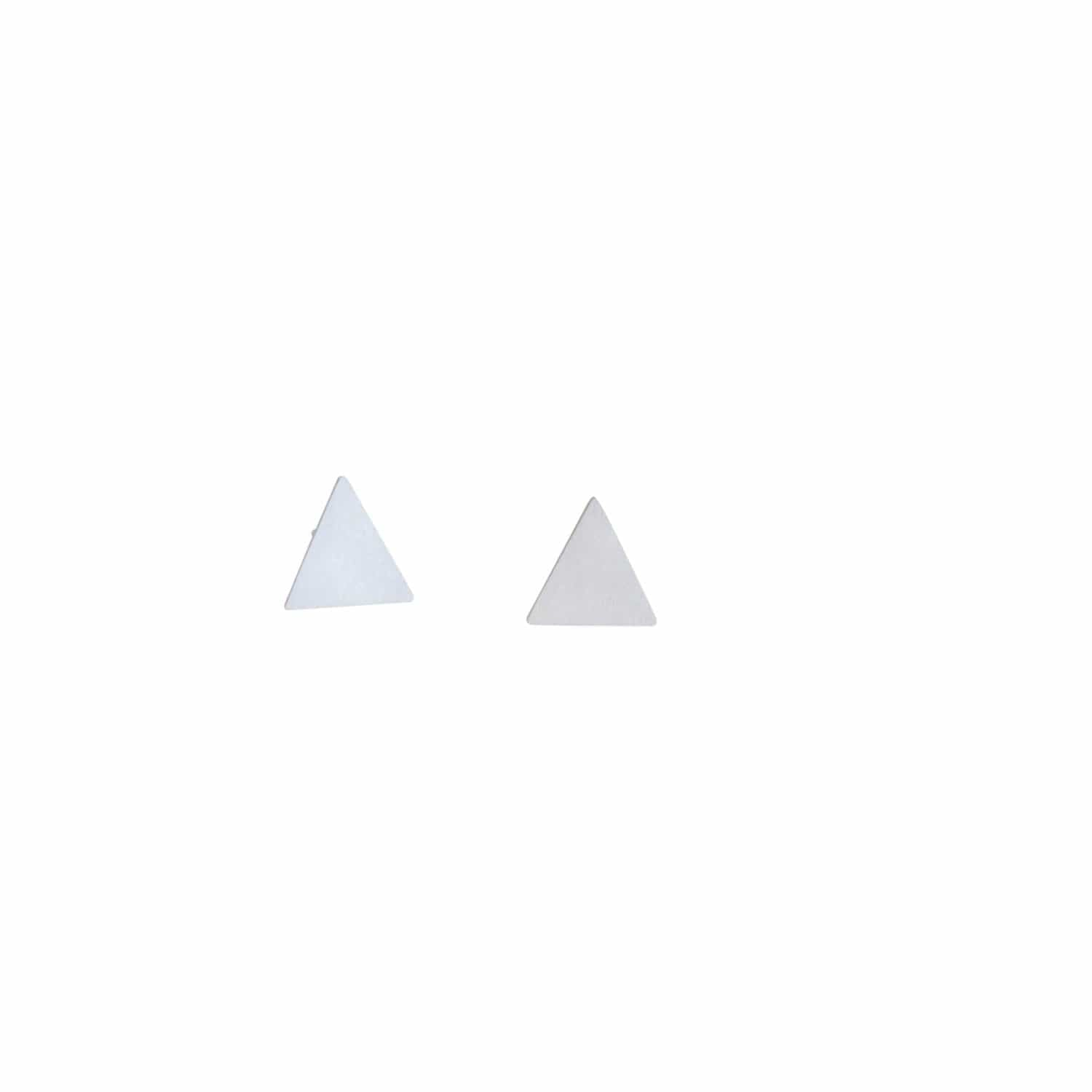 tothemetal Earrings Triangle Silver Stud Earrings