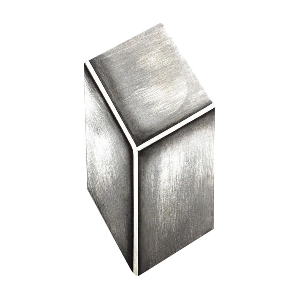 tothemetal jewelry 3D Effect Silver Rectangle Brooch