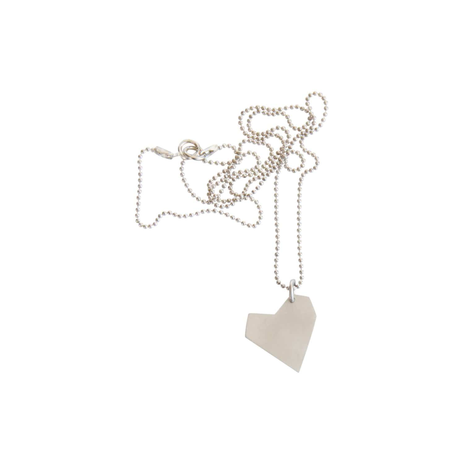 tothemetal jewelry Asymmetrical Heart Silver Necklace