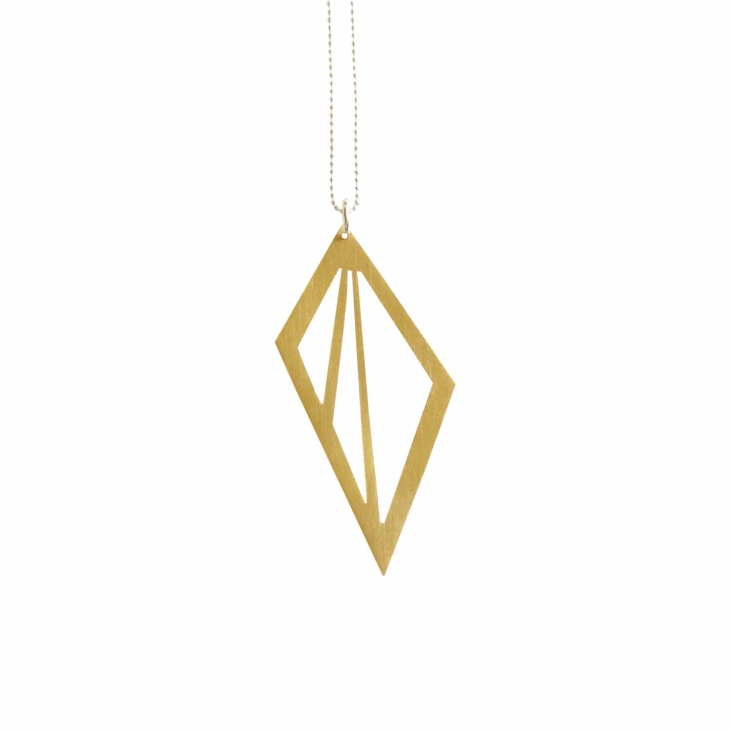 Geometric Triangle Cut Out Gold Necklace