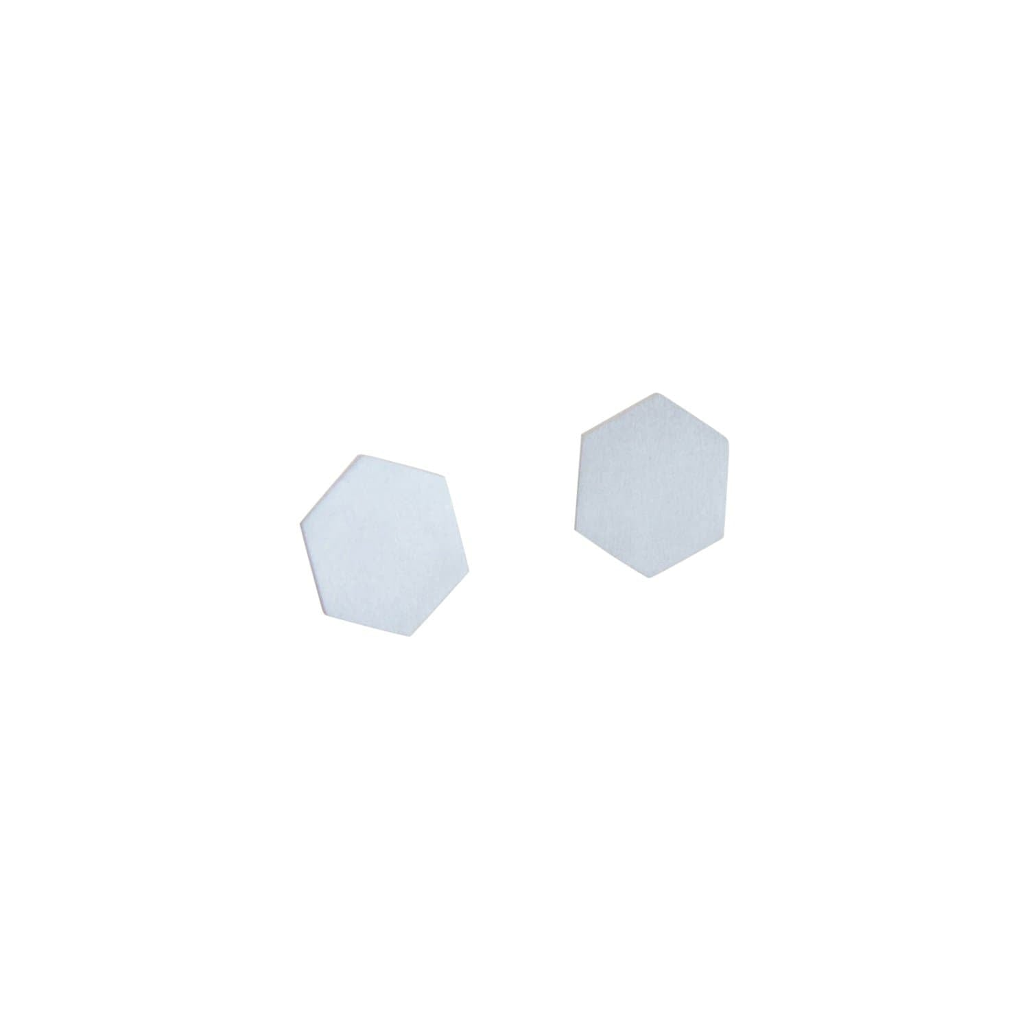 tothemetal jewelry Hexagon Silver Post Earrings