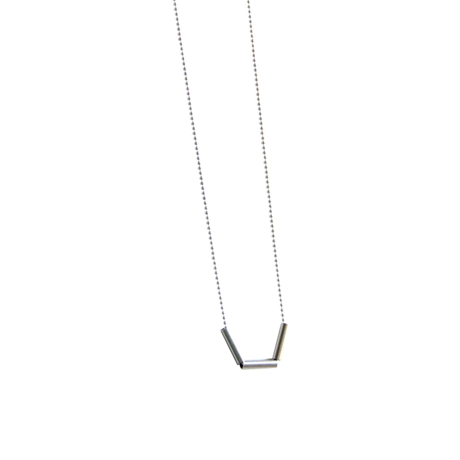 tothemetal jewelry Three Bar Silver Necklace