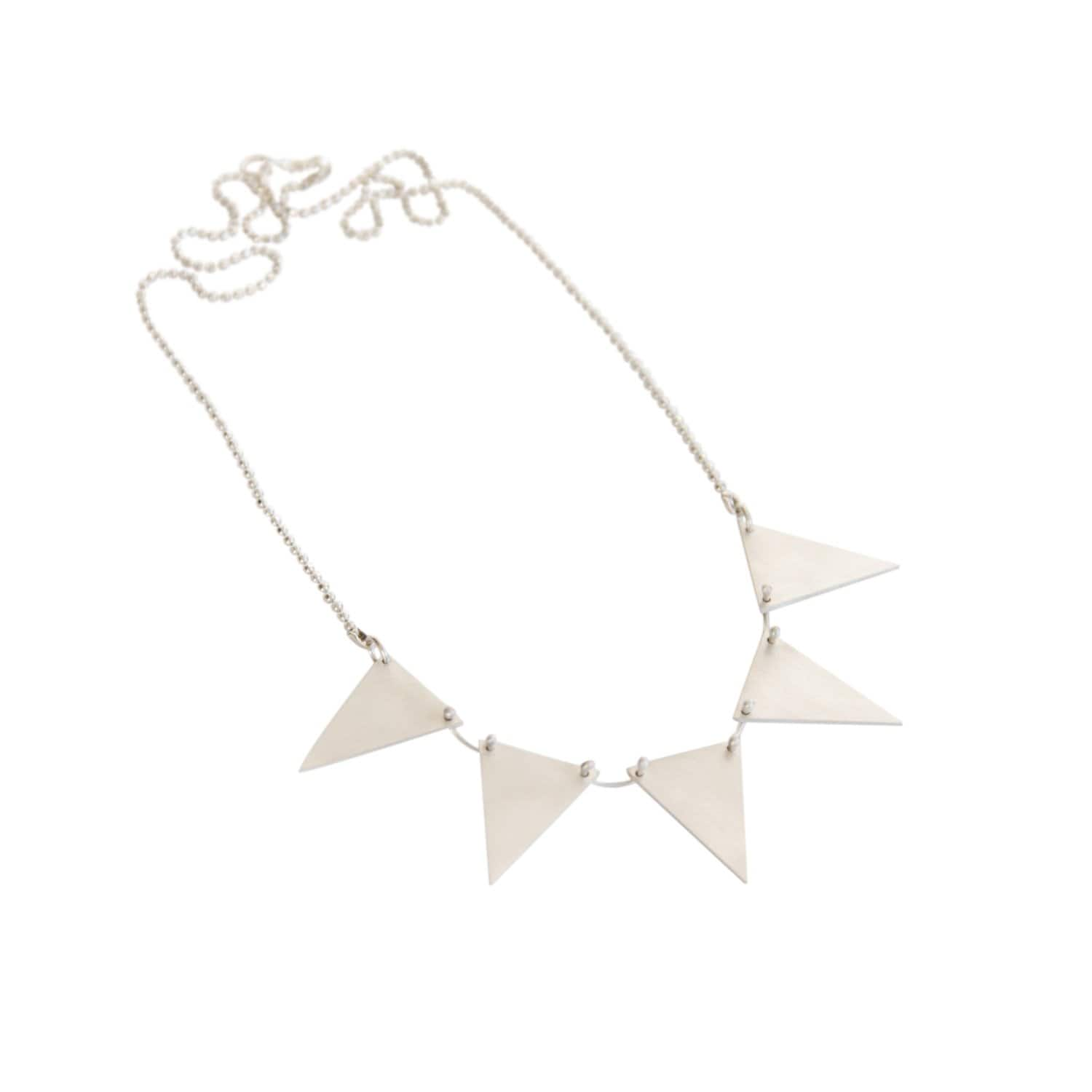 Triangle Garland Silver Necklace