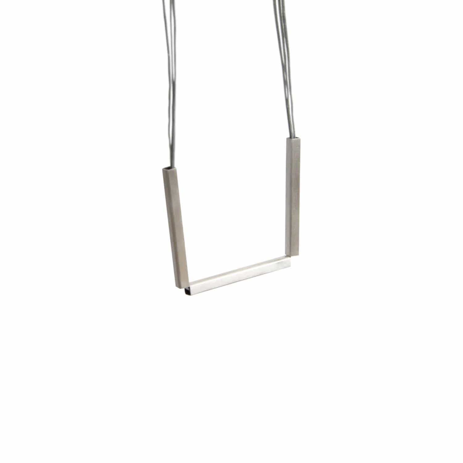 tothemetal jewelry Triple Bar Silver Necklace