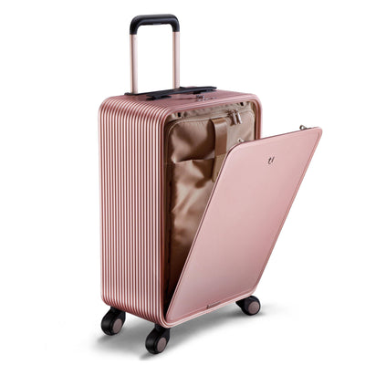 "TUPLUS Luggage Rose Gold Tuplus X2 22""Aluminum Carry-on"