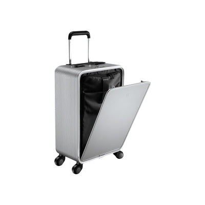 "TUPLUS Luggage Silver Tuplus X2 22""Aluminum Carry-on"