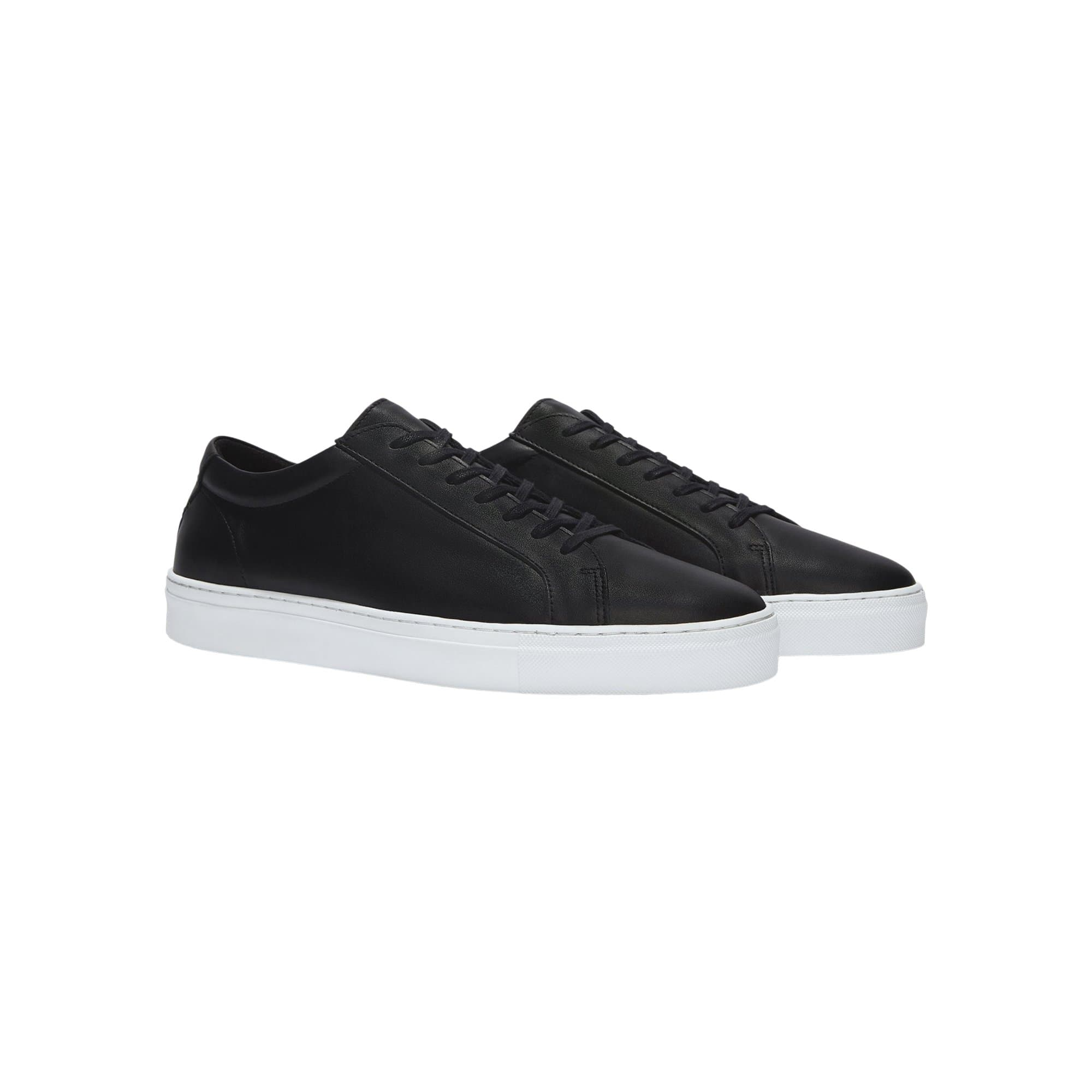 Series 1 Double Black Leather Sneaker