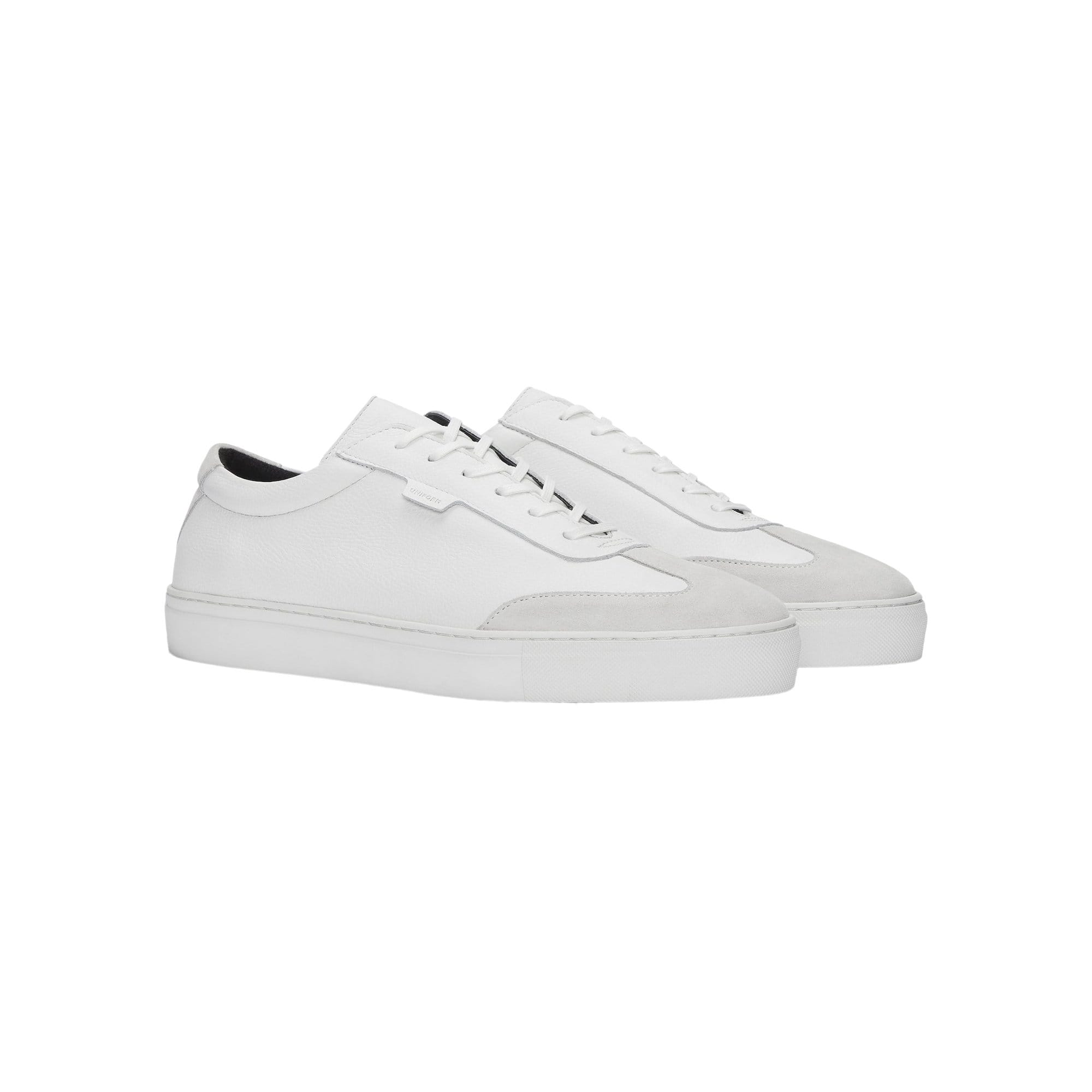 Series 3 White Tumbled Leather + Suede Sneaker