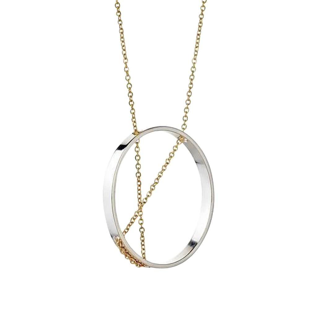 Inner Circle Sterling Silver + Gold Necklace