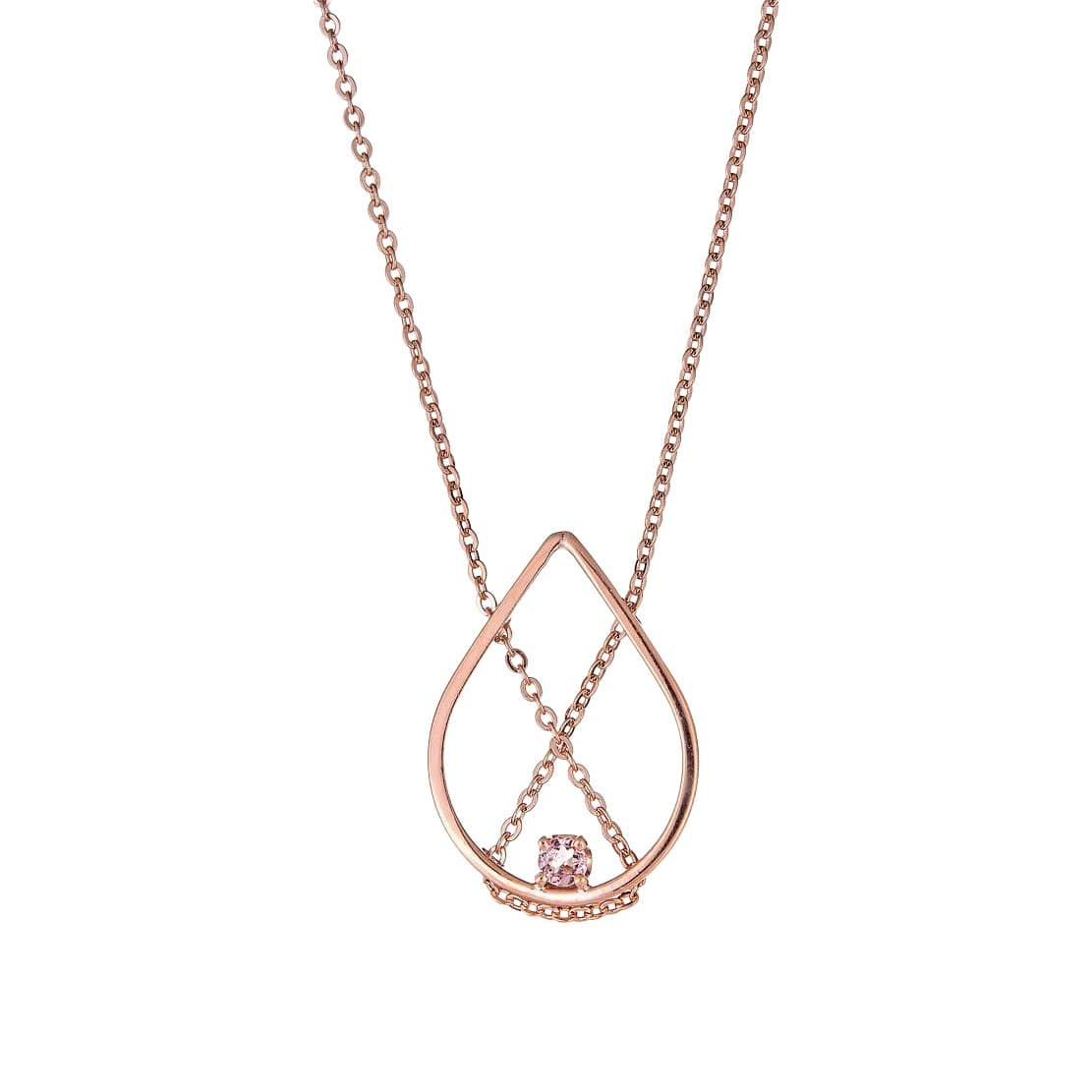 Petal Rose Gold + Pink Tourmaline Necklace