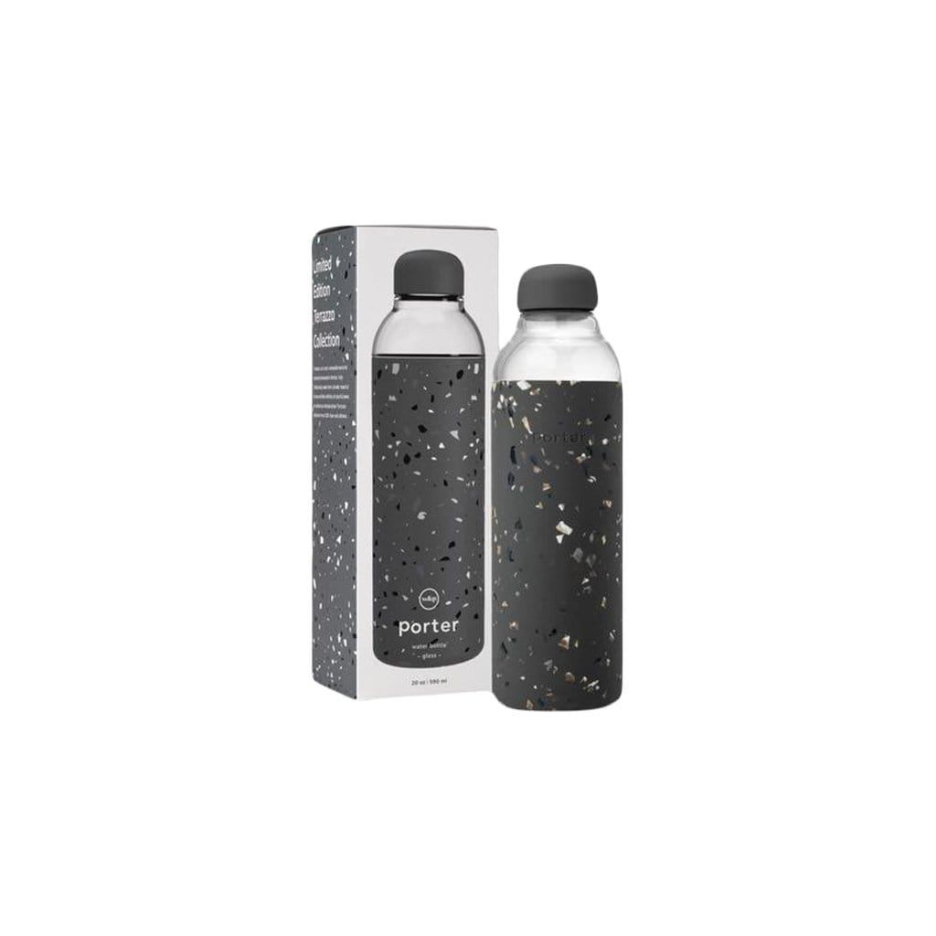 W&P Water Bottles Porter Charcoal Terrazzo Water Bottle
