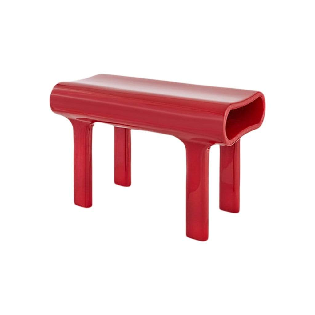 Red Modernist Bench