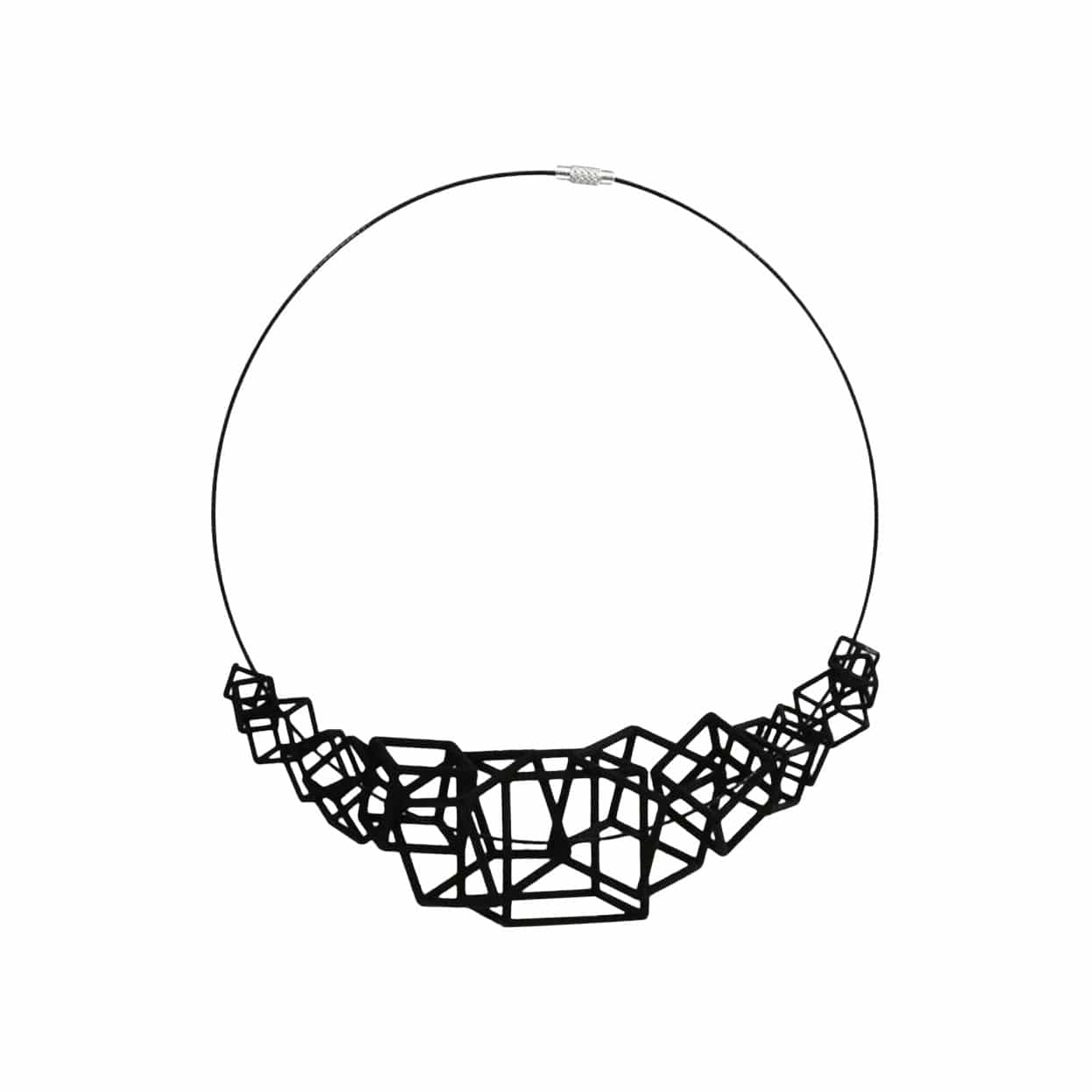 Z Cube 3D-Printed Necklace