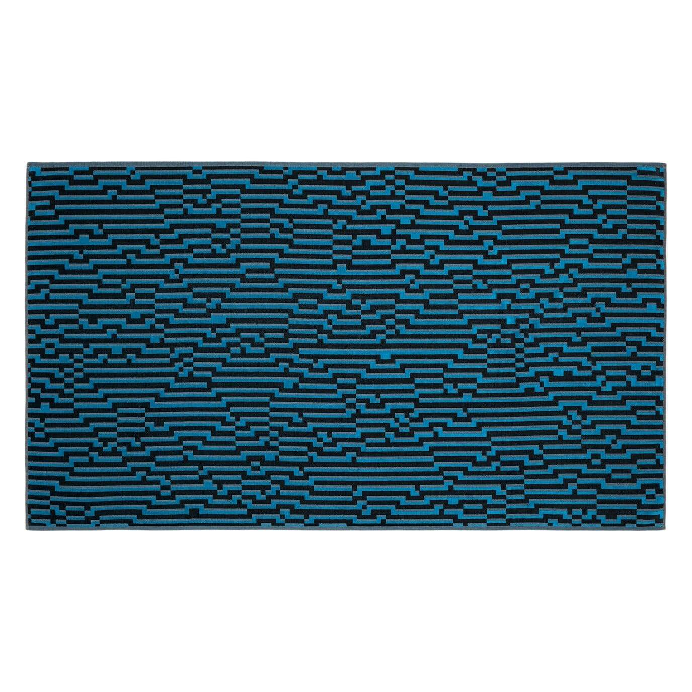 Bitmap Mini Blue Waves Beach Towel