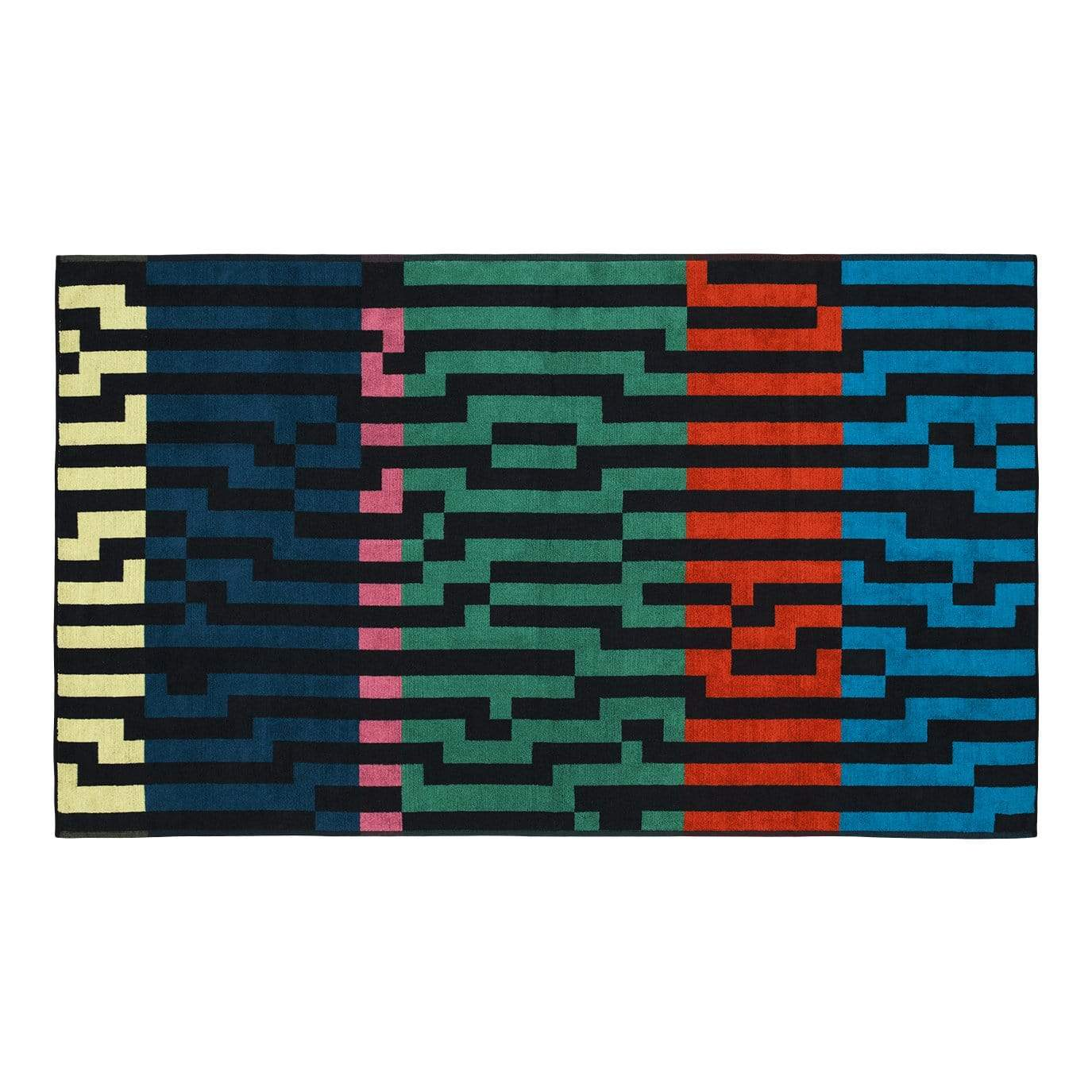 Bitmap Multicolour Waves Beach Towel
