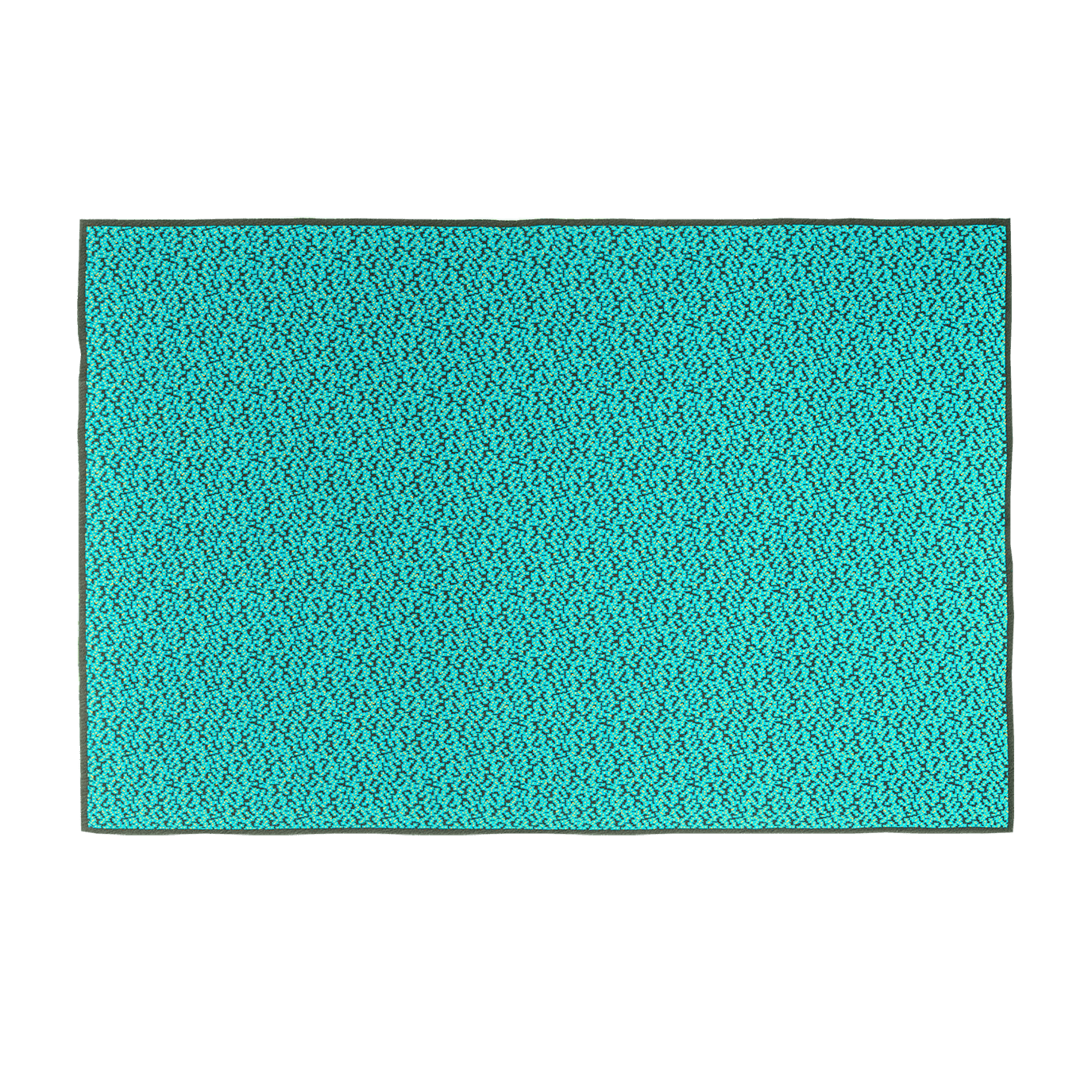 Bitmap Labyrinth Calm Turquoise Throw