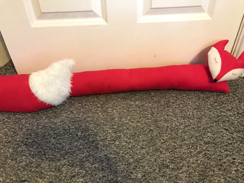 Fuchsia Pink Fox Draught Excluder