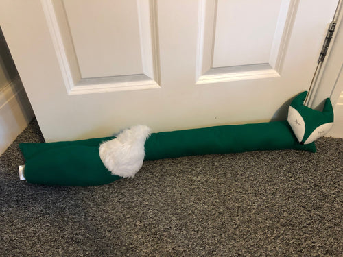 Emerald Green Fox Draught Excluder