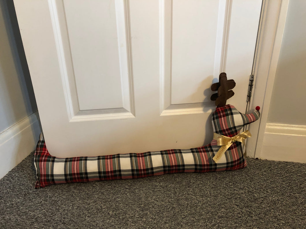 Christmas Rudolph Red Nose Reindeer Draught Excluder