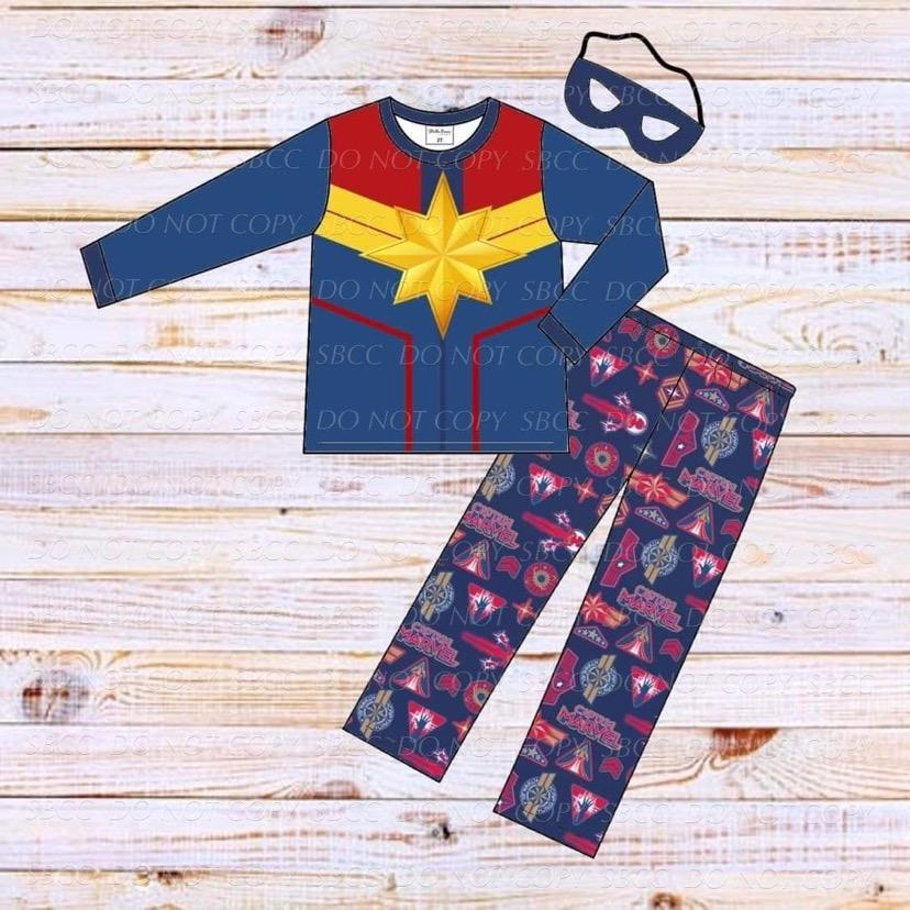 Superhero Loungewear Set-Captain Marvel